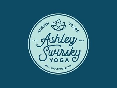 Ashley Swirsky Yoga  badge soul lotus texas austin yoga logo
