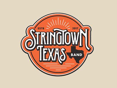 Stringtown Logo vintage bluegrass texas logo band