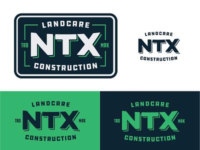 NTX Landcare & Construction badge logo lockup texas construction landcare