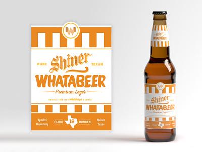 Shiner Whatabeer @ Whataburger package label beer branding texas shiner whataburger