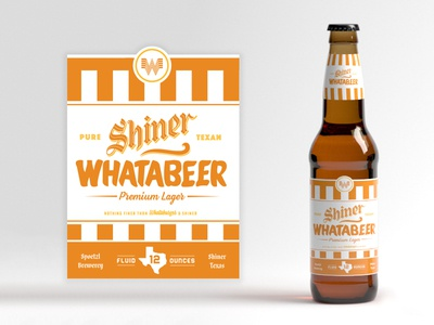 Shiner Whatabeer @ Whataburger package label beer branding texas shiner whataburger