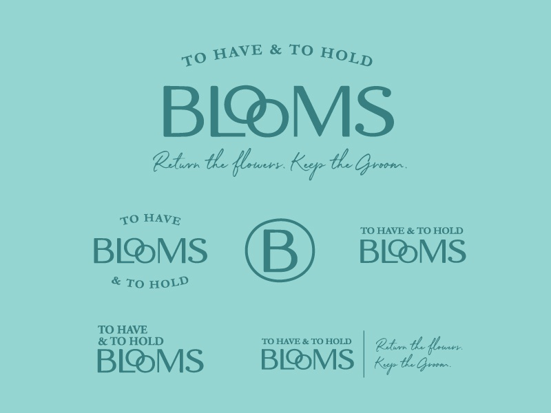 To Have and To Hold Blooms Identity System identity branding texas floral logo identity flower