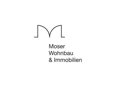 Moser Wohnbau & Immobilien m doors plan floorplan architecture architect wohnbau immobilien real estate property development logo monogram