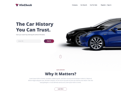VinCheck gradient website design redesign typography branding website portfolio logo design ui