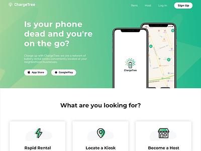 ChargeTree Home web website design portfolio website business branding shapes mobile design ui