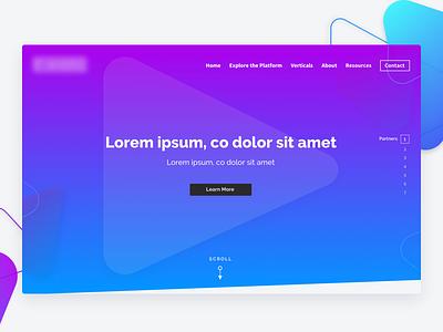 Light Version shapes gradient business redesign design ui