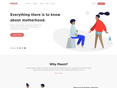 Maum Site illustration design ui
