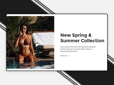 Cover Shot e-commerce section swimwear swimsuit cover design ecommerce design ecommerce design ui