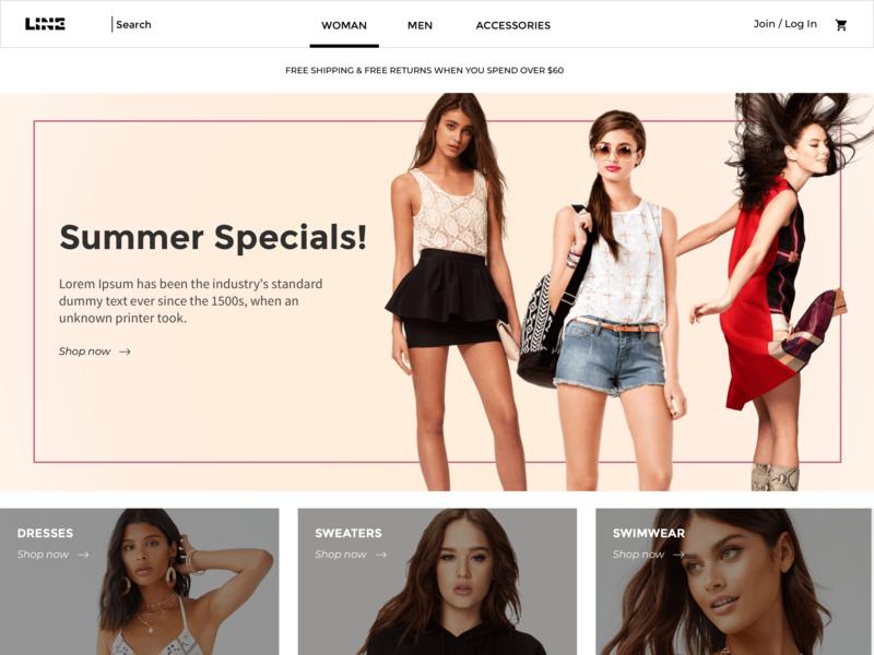 Woman Page fashion e-commerce ecommerce website design webdesign web website design ui