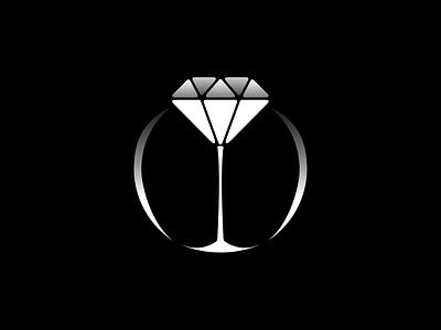 «COCKTAIL JEWELRY» logo gradient concept jewelry logo vector minimalistic dark theme branding art figma design
