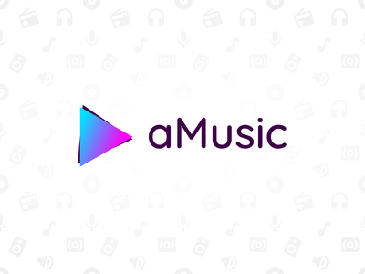 Music app logo concept pattern mobile app visual gradient logo typography branding concept vector art figma design