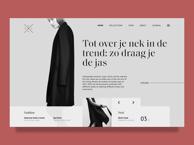 YC - Fashion Store typography concept figma design minimalistic logo modern graphic design visual design visual uxui ux ui hero section online store store shop fashion style clothes