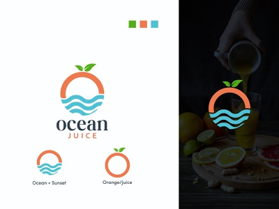 Ocean logo design, logos, logofolio, modern logo orange logofolio flat logo sun logo orange logo juice logo ocean logo business logo minimalist logo branding logo design professional logo creative design
