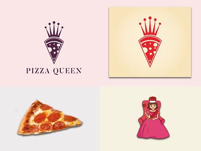 pizzaqueen logo design-modern logo-logoconcepts identity logofolio logosai logos flat logo logo illustration branding professional logo creative design modern logo pizza queen logo pizza hut pizzaqueen logo