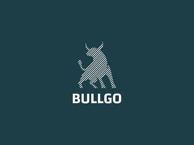 bullgo logo design modern logo line art vector illustration flat logo brand identity oxlogo minimalist logo modern logo professional logo custom logo design creative design branding bullgo logo