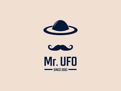 Mr. UFO logo design graphic design animation ui creative design professional logo mr logo men logo ufo logo branding illustration custom logo design minimalist logo business logo modern logo logo design