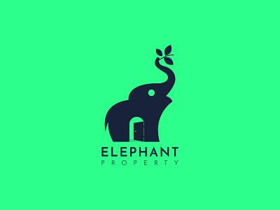Elephant Property logo by pujan business logo graphic design creative design professional logo branding minimalist logo building logo custom logo brand logo realestate logo construction logo creative logo logo makers company logo elephant logo elephant property elephant modern logo