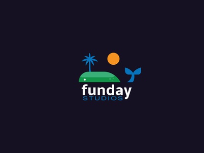 Funday Studios Logo Design minimalist logo design business logo minimalist logo vector illustration flat typography branding graphic design illustrator