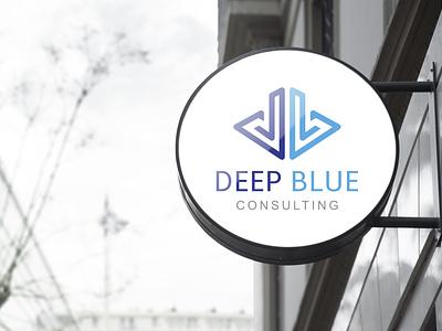 Deep Blue Consulring logo Design business logo logodesign graphic design minimalist logo minimalist logo design logo vector flat branding minimal illustrator