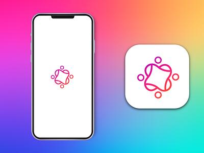 Community app icon logo design app design minimal app logo modern app logo app icon modern app icon design vector logo minimal illustrator graphic design