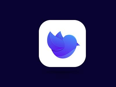 Bird app icon logo design ui ux illustration branding design vector logo minimal illustrator graphic design modren app icon bird app icon logo bird logo app logo app icon