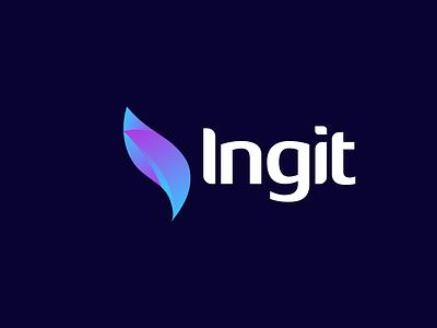 Ingit modern logo design logo icon logo mark new logo minimal logo logo design modern logo ui ux illustration branding illustrator design minimal vector logo graphic design