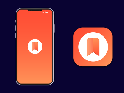 bookmark app icon design a logo logo design modern app icon ux ui illustration branding design vector logo minimal illustrator app logo bookmark app icon app icon graphic design