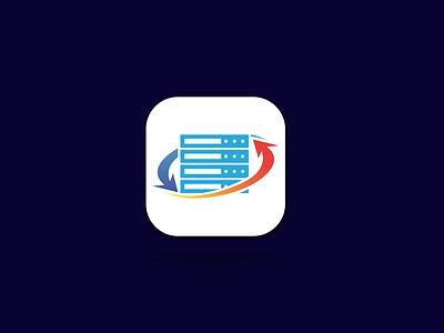 hosting app icon app logo app icon ux ui illustration branding design minimal vector logo illustrator graphic design