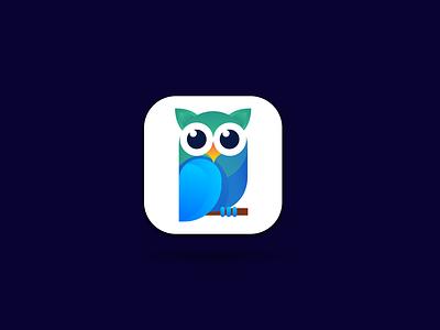 Emotional owl app iocn animal logo owl app logo modern app logo owl logo app icon owl app logo ui ux illustration branding design vector logo minimal illustrator graphic design