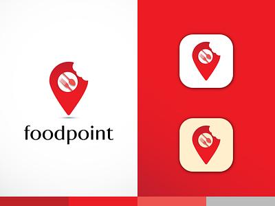 foodpoint logo design farhadsdesign foodpoint logo modern logo minimal logo logo design illustration branding design vector logo minimal illustrator graphic design