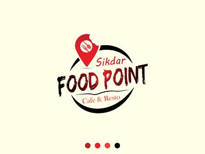 Food Point Logo Design trendy logo design minimalist logo illustration branding logo designer farhadsdesign food logo modern logo design design vector logo minimal illustrator graphic design