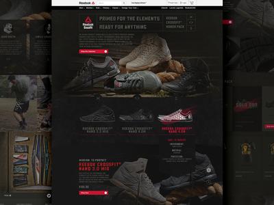 Reebok – Honor Pack Website