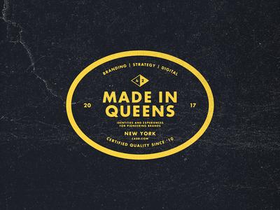 Made In Queens Badge 2017