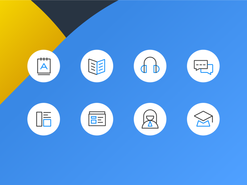 Icon For Iciba.com line iconography icon app search dictionary ui