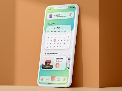 Language Learning App 'LOGOS' application app design ui figma adobe photoshop adobe xd xd interface uxdesign ui design uiux