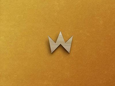 Gold Wood Logo Mockup free mockup 3d logo ui new psd mockup design logo mockup wood gold