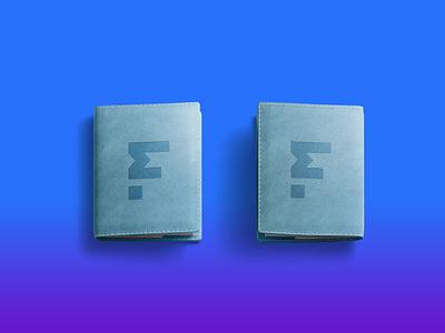 Brand Wallet Logo Mockup 3d photoshop ui freebies blue design psd free brand mockup wallet