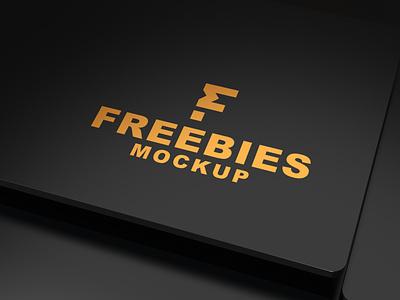 Matte Clean 3D Logo Mockup logo 3d clean new psd mockup ui illustration branding free design free mockup