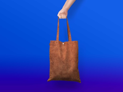 Leather Bag Mockup leather bag branding typography illustration mockup ui psd new free design free mockup