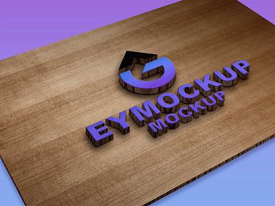 CNC 3D Wood Logo Mockup awesome wood 3d new free mockup free logo branding premium illustration