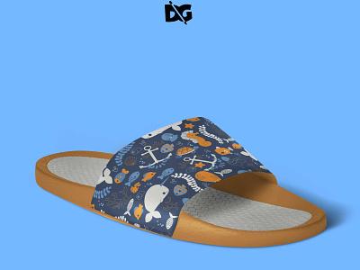 Slippers Mockup printed slippers psd sliders footwear design mockup premium slippers