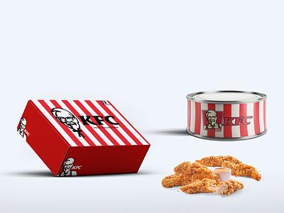 KFC Food Packaging Tin Mockup psd design snacks chicken mockup can tin packaging food kfc