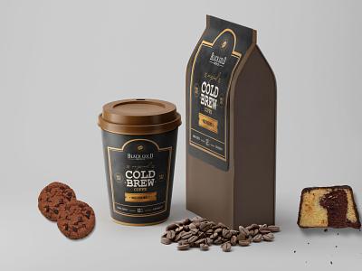 Coffee Label Mockup food packaging graphic design design premium psd mockup label packaging coffee