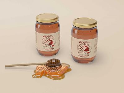 Free New Honey Jar Collection Mockup ui logo illustration premium free mockup design psd mockup psd new bee honey bottle jar free