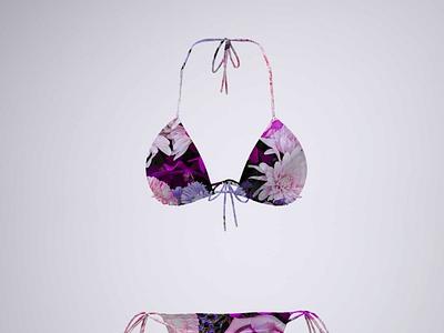 Flower Print Swimsuit Mockup ui logo illustration premium psd mockup psd new free free mockup design print flower garment beach swim suit suit swim