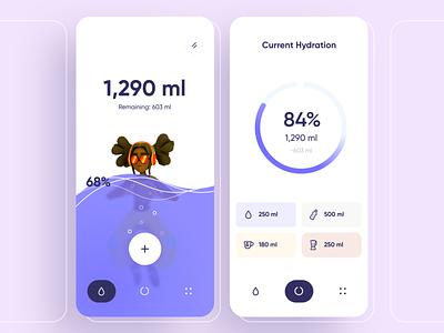 Water Drinking Reminder App food minimal add mobile 3d graph interface chart design illustration ux app ui