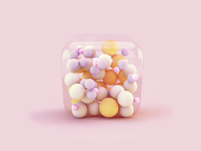 Walking Cube motion graphics branding motion minimal abstract colors cube balls loader product design c4d cinema4d 3d art 3d animation