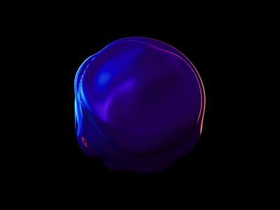 Sphere distortion motion loop morphing abstract digitalart c4d illustration product design branding clean sphere circle gradients 3d animation