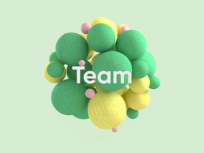 Team cloth octane cinema4d loader abstract product design motion design circles balls colorful 3d c4d illustration minimal typography branding animation
