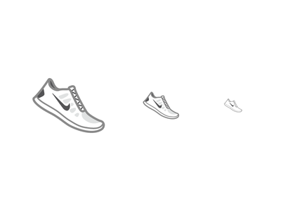 Running Shoe Drawing Simple